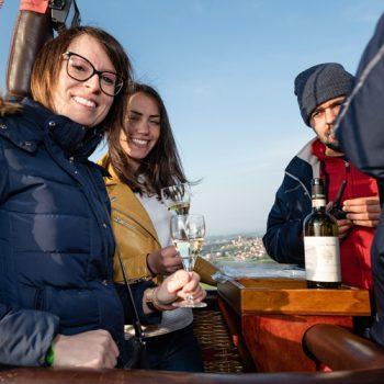 Degustazione vini in mongolfiera